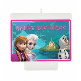 Bougies Happy Birthday Reine des Neiges Northern Lights