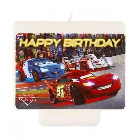 Bougie Cars Happy Birthday