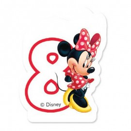Bougie nº8 Minnie Mouse