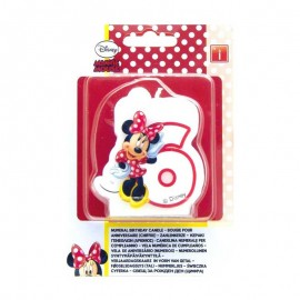 Bougie nº6 Minnie Mouse