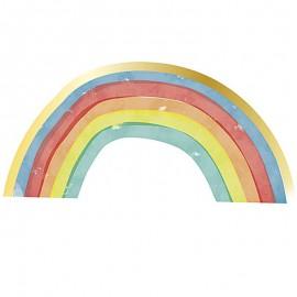 16 Serviettes Rainbow Party 33 cm