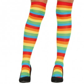 Collants à Rayures Multicolores