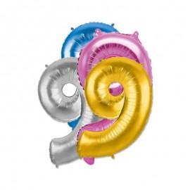 Ballon 9 Mylar 35 cm