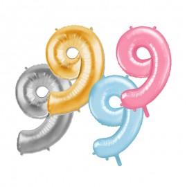 Ballon Mylar Numéro 9 81 cm
