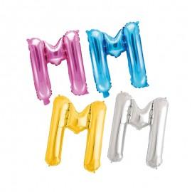 Ballon en Mylar Lettre M 35 cm
