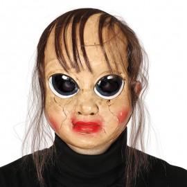 Masque de Poupée Cassée avec Cheveux