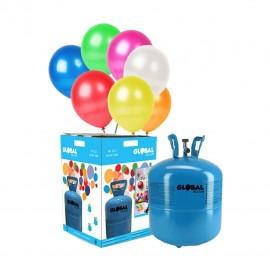 Petite Bouteille d'Hélium avec 30 Ballons Métallisés
