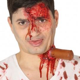Cicatrice Plantée avec Adhésif au Latex