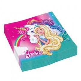 20 Serviettes Barbie Barbie 33 cm