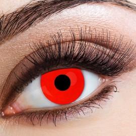 Lentilles de Contact Diable Rouge Quotidienne