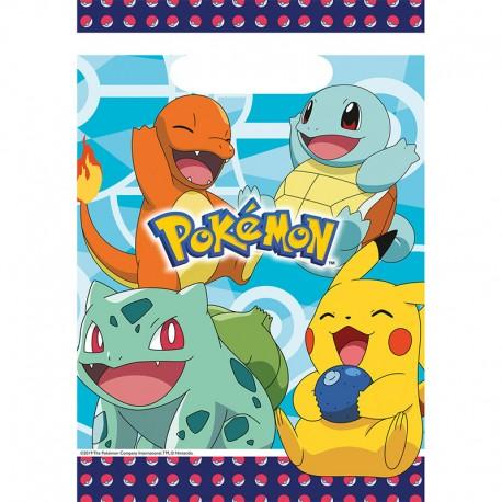 8 Sachets Pokémon en Plastique 23,4 x 16,2 cm