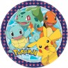 8 Assiettes Pokémon en Carton Ronds 22,8 cm