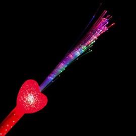 Bâton Lumineux Fibre Optique Coeur