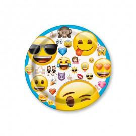 8 Assiettes Emojis 17,7 cm