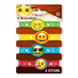4 Bracelets Elastiques Avec Emoticônes