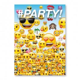8 Invitations Avec Emojis
