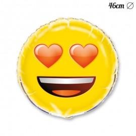 Ballon Emoji Oeil en Coeur 46 cm
