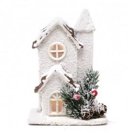 Petite Maison en Bois Led 17 cm
