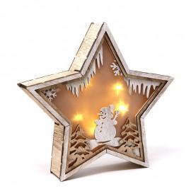 Étoile en Bois Led 24 cm