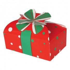 Boîte de Noël Rouge Carton 18 x 11 cm
