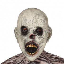 Masque Zombie Blanc Latex