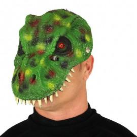 Masque Dinosaure Vert Mousse