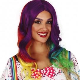 Perruque Crinière Multicolore