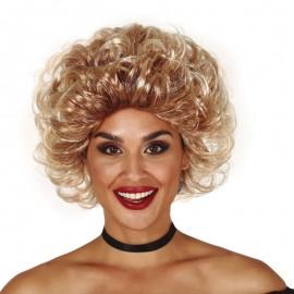 Perruque Moyenne Blonde Rock 50 en Boîte