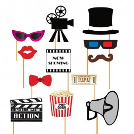 Set Photobooth Cinéma 12 Pcs