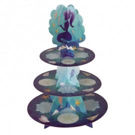 Support Cupcakes Sirène 30 x 40 cm