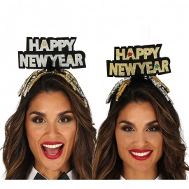 Serre-Tête Happy New Year Argent et Or