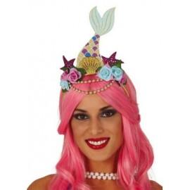 Serre-Tête Sirène avec Fleurs