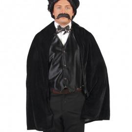 Manteau Velours Noir 100 cm