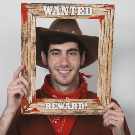 """Affiche Western """"Wanted"""""""