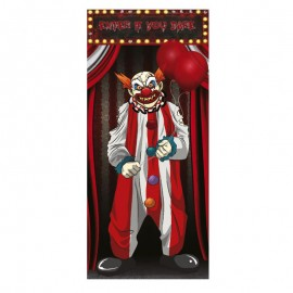 Décoration de Porte Clown 75 x 150 cm