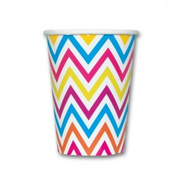 6 Gobelets Chevron 355 mL