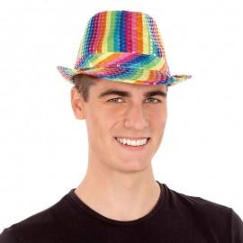 Chapeau à Paillettes Multicolores