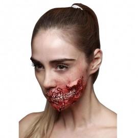 Cicatrice de Zombie en Latex Machoire