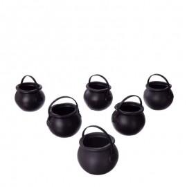 6 Mini Chauderons Noirs