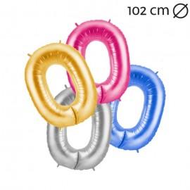 Ballon 102cm en Mylar Chiffre 0