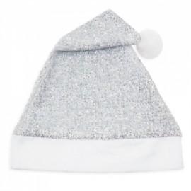 Bonnet de Noël Argent à Paillettes