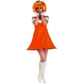 Déguisement de Citrouille Orange avec Perruque pour Femme