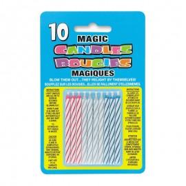 10 Bougies Magiques À Rayures