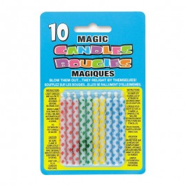 10 Bougies Magiques À Paillettes