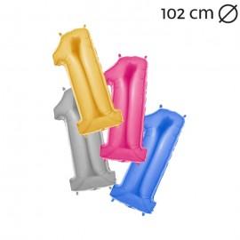 Ballon 102cm en Mylar Chiffre 1