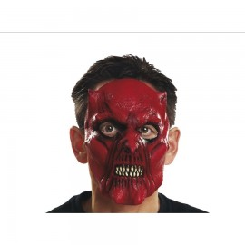Demi-Masque Visage du Diable en Latex