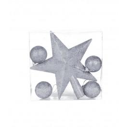 Étoile 19 cm avec 4 Boules