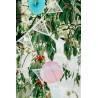 Fanion Triangulaire Avec Fleurs 19,5 x 3 m