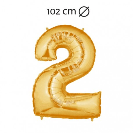 Ballon 102 cm en Mylar Chiffre 2