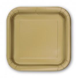 14 Assiettes Carrées en Carton 23 cm